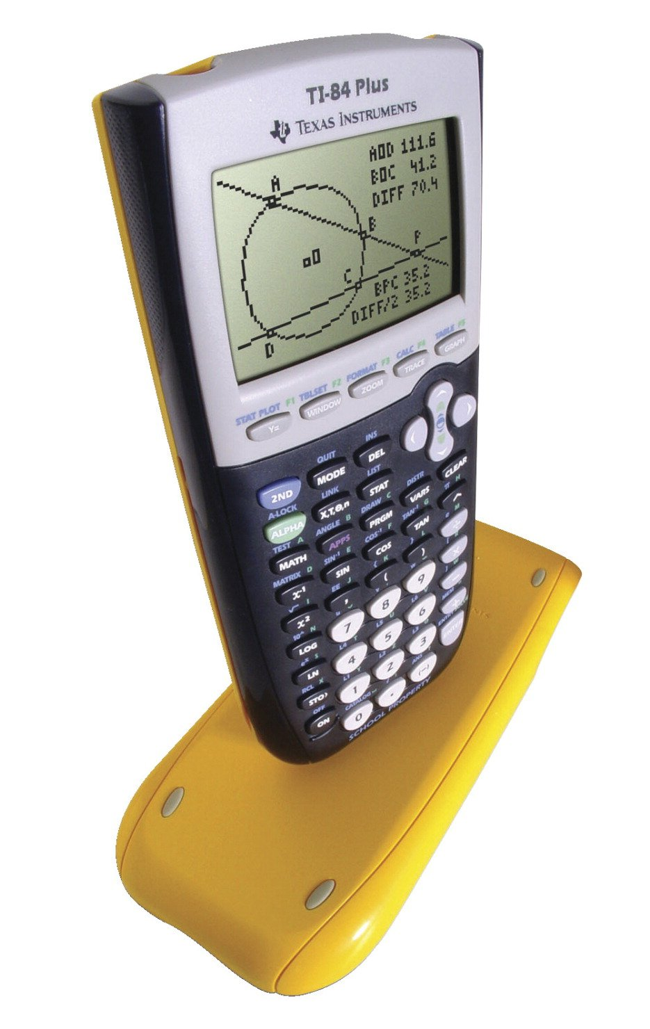 Texas Instruments EZ-Spot Graphing Calculator Kit, 40 AAA Battery, Advanced Statistics, Finance, Yellow, Pack of 10