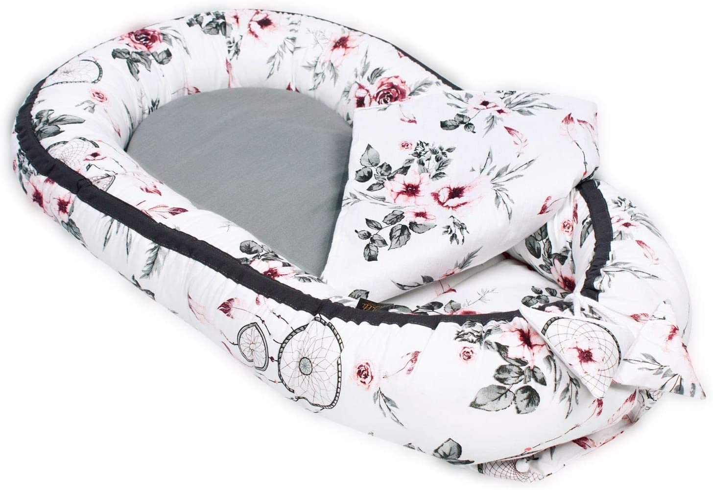 Hypoallergenic Cocoon Palulli Baby Nest Multifunctional Cosy Nest with Soft Extra Mattress Cot Cot 100/% Cotton Oeko-Tex Made in The EU Travel Cot for Newborn