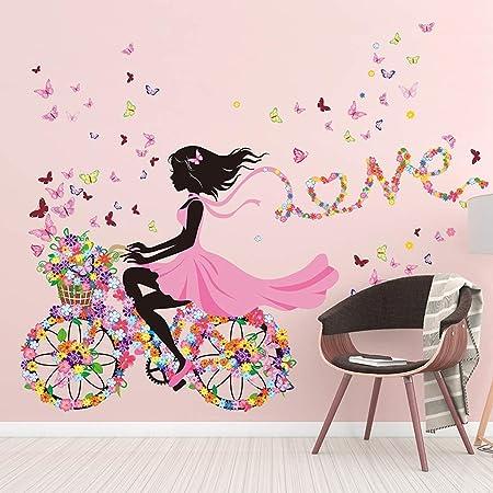 DAFREW Fille Chambre Wall Sticker Autocollants Princesse ...