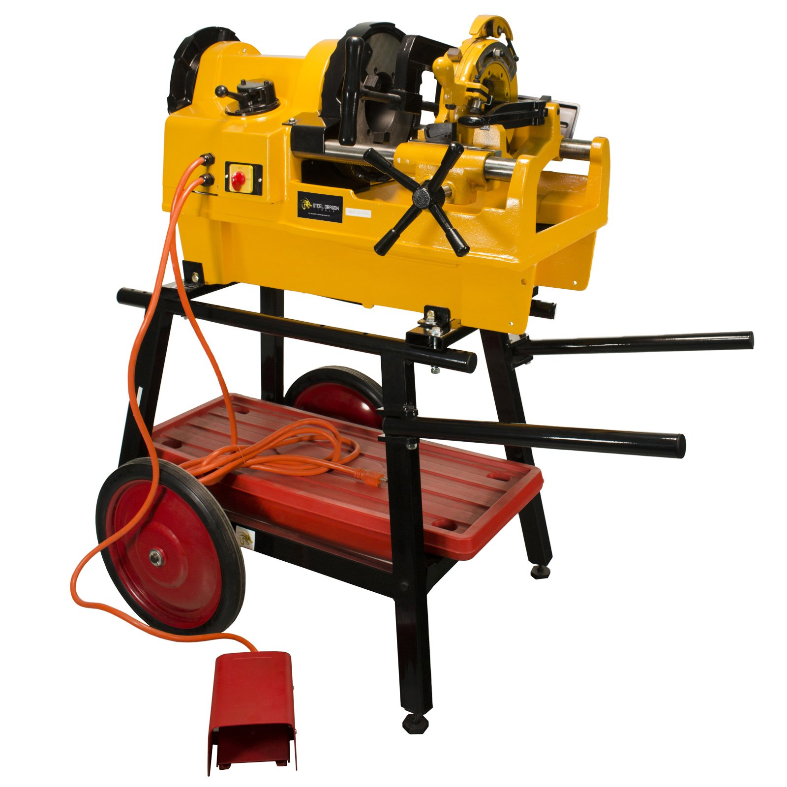 Steel Dragon Tools 1224 Pipe Threading Machine and 150A Cart