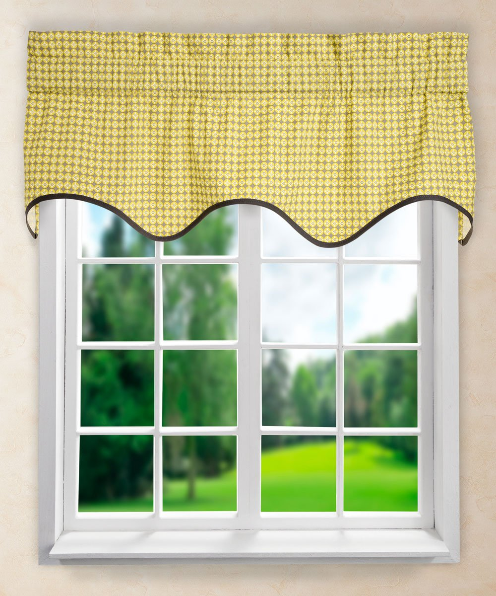 Ellis Curtain Strobe Wave Valance, 50 X 15-Inch, Seaspray 730462115485