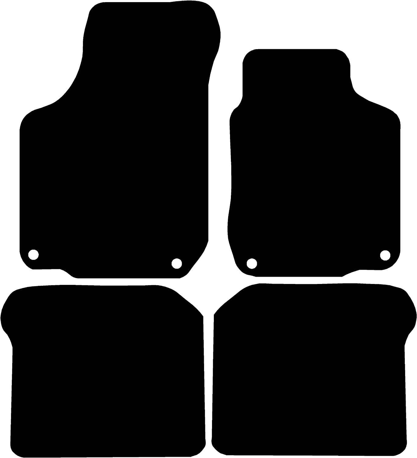 Connected Essentials 5034150 Black with Black Trim Tailored Heavy Duty Custom Fit Rubber Car Mats Alfa Romeo 147 (2000-2010)