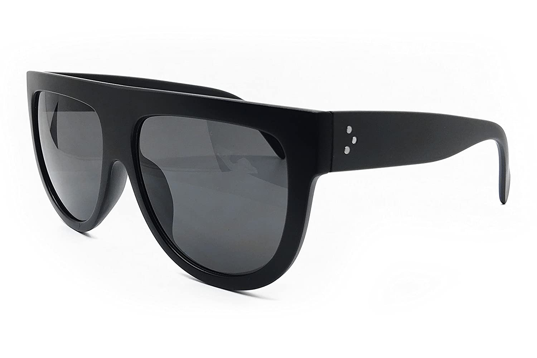 d415ad16fadd Amazon.com  O2 Eyewear 6520 Oversize XL Mirror Tint Havana Shadow Style  Designer Flat Top Womens Mens Sunglasses (BLACK