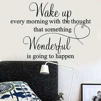 wall sticker, wake up every morning wallpaper decal mural quoteswall sticker, wake up every morning wallpaper decal mural quotes stickers amazon com industrial \u0026 scientific