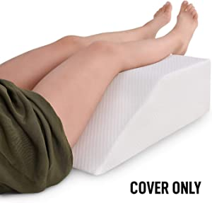 Abco Tech Leg Pillow Cover - Fits Leg Elevation Pillow - Replacement Cover Only - Washable