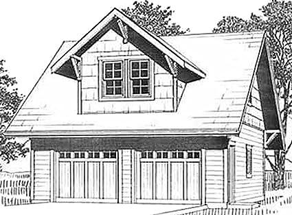 . Amazon com  Garage Plans  Craftsman Style Framed Roof Dormer With