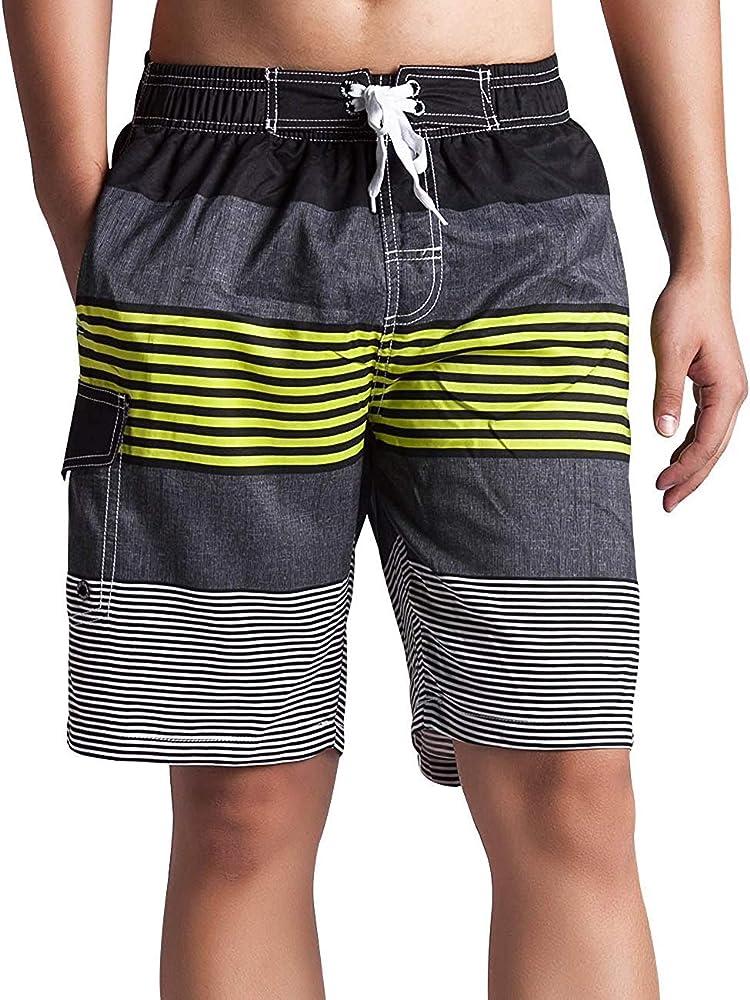 Lachi Ba/ñador Traje de Ba/ño Hombres Pantalones Cortos de Playa para Hombre de Nataci/ón Playa Piscina