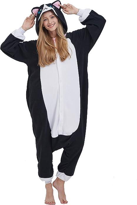 Oferta amazon: Pijama Animal Entero Unisex para Adultos con Capucha Cosplay Pyjamas Ropa de Dormir Traje de Disfraz para Festival de Carnaval Halloween Navidad Talla M