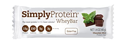 SimplyProtein Whey Bar, Chocolate Mint, Gluten-Free