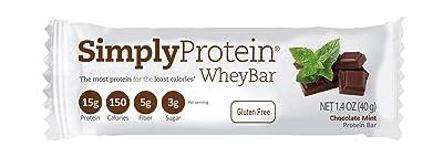 SimplyProtein Whey Bar, Chocolate Mint, Gluten-Free