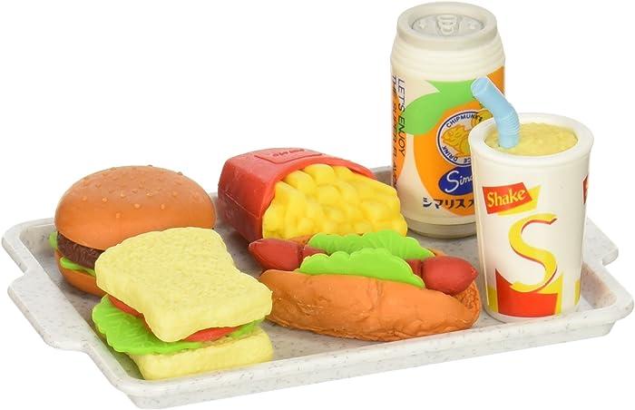 Iwako Japanese Eraser Set - Fast Food Assortment (38331)