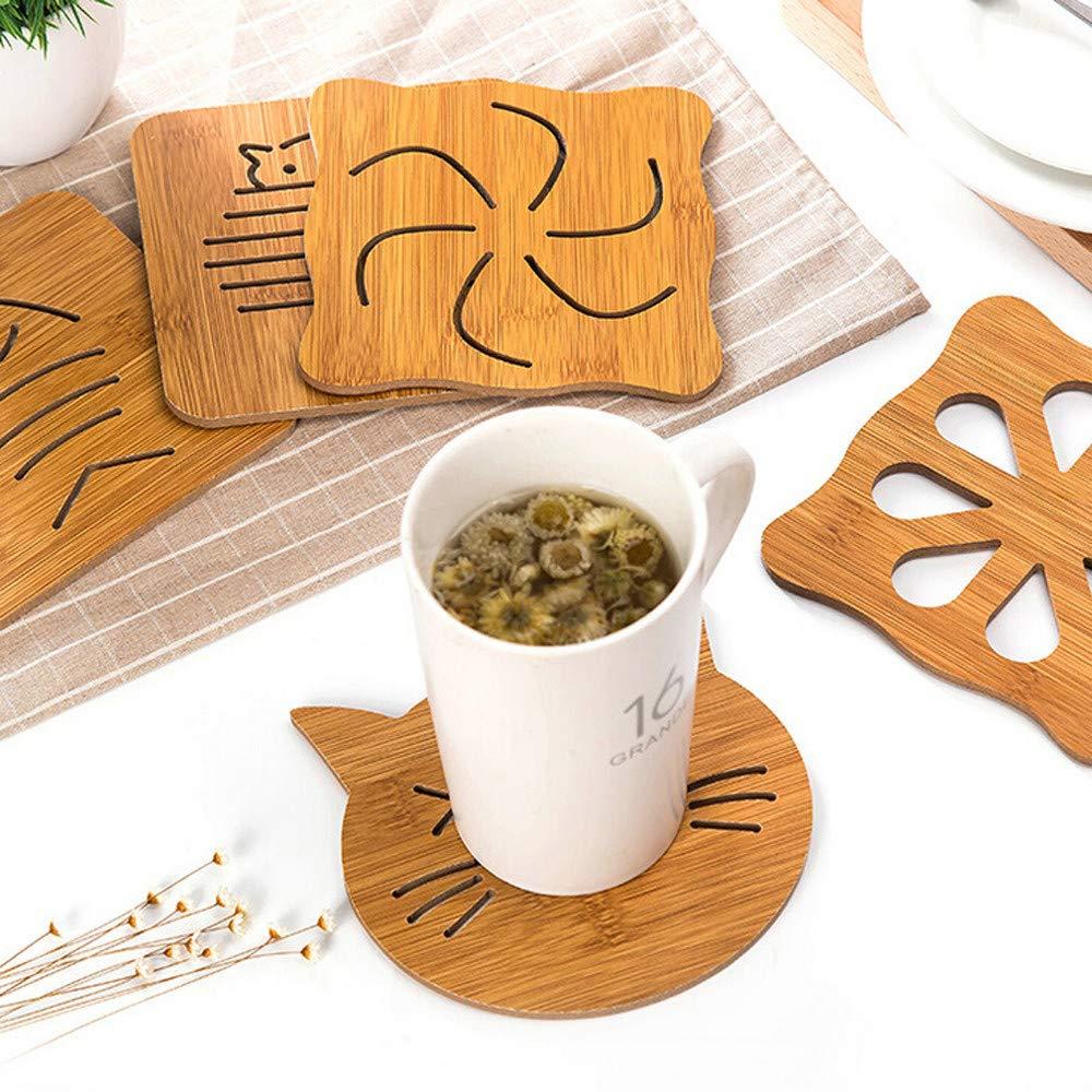 SUDADY-Home Espesado Mat de Copa Mat de bebida de caf/é Mat de mesa Estera de la olla Suministros de cocina comedor y bar Puede proteger la mesa del comedor del escaldado