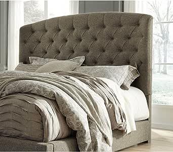 Amazon Com Ashley Furniture Signature Design Gerlane King Cal King Upholstered Headboard