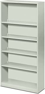 product image for HON Metal Bookcase - Bookcase with Two Shelves, 34-1/2w x 12-5/8d x 72h, Light Gray (HS72ABC)