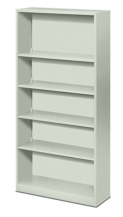 HON Metal Bookcase   Bookcase With Two Shelves, 34 1/2w X 12