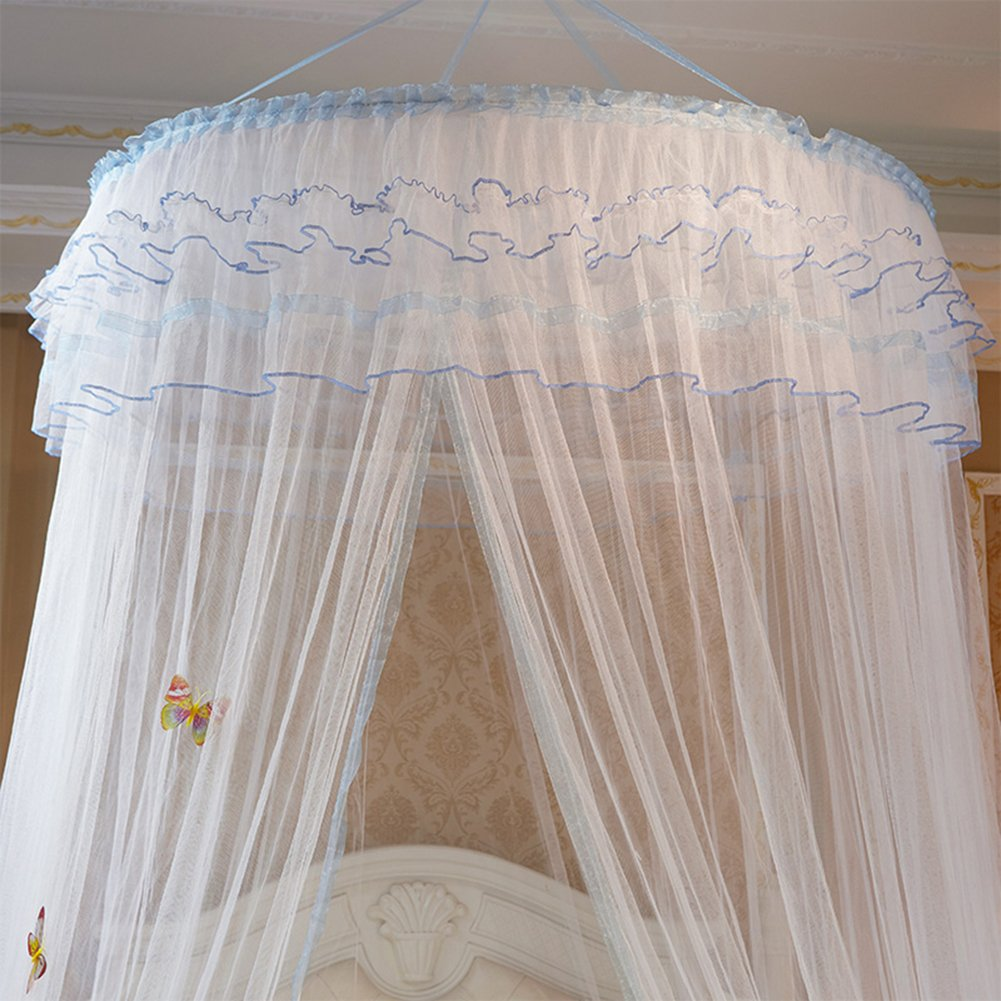 POPPAP Girls Bed Net Canopy Drapes,Children Boys Mosuito Curtain Queen Large Size by POPPAP (Image #5)