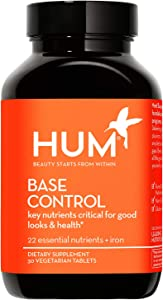 HUM Base Control - Daily Multivitamin & Mineral with B Complex, 22 Micro-Nutrients & Iron - Non-GMO, Soy-Free & Gluten-Free (30 Tablets)