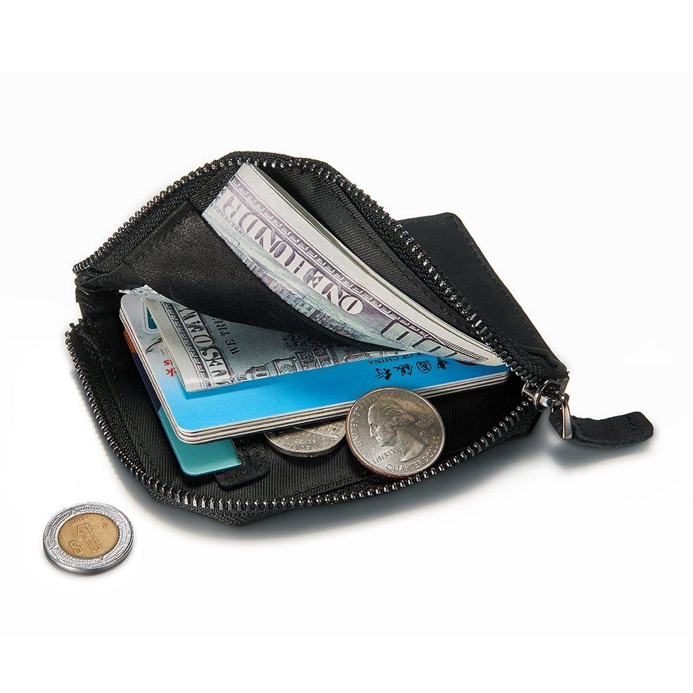 6ee45584d Estilo: de bajo perfil minimalista, seguro, exterior y interior con ranura  para tarjeta de alta capacidad, cierre de cierre Wallet solución para las  ...