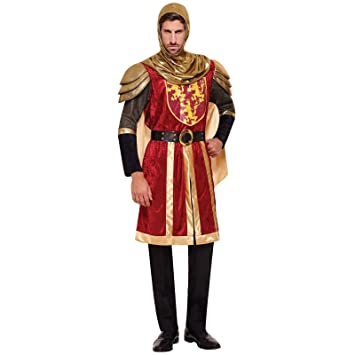 Adult Mens Red Knight Crusader Royal Armour Fancy Dress Lannister Lion Costume Medieval Arthur Dragon King  sc 1 st  Amazon UK & Adult Mens Red Knight Crusader Royal Armour Fancy Dress Lannister ...