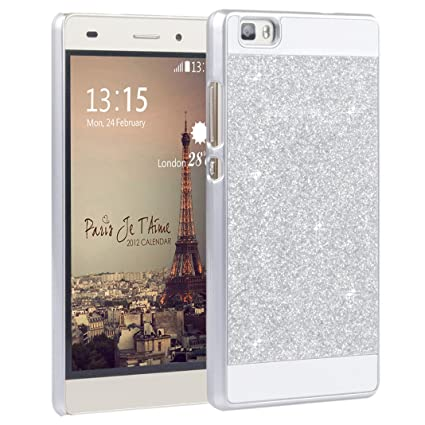 l'ultimo 5fb52 4f02e P8 Lite cover, Asnlove Hard Case Bling Cover Shell Bumper Phone Skin  Protective Case for Huawei P8 Lite - Gold + Sliver