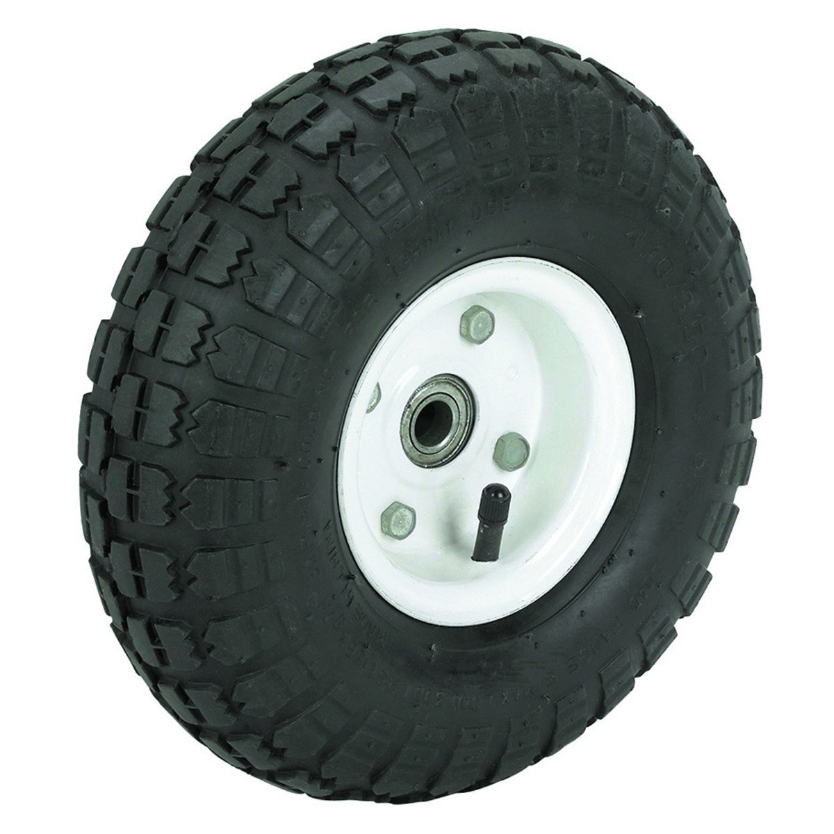 10 in. Pneumatic Tire with White Hub HFJ14