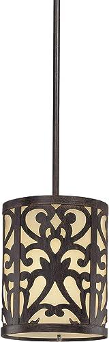 Minka Lavery Pendant Ceiling Lighting 1491-357, Nanti Mini Cylinder, 1 Light, 100 Watts, Iron