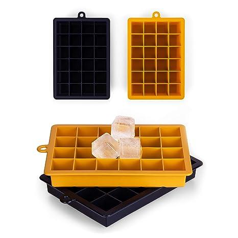 Blumtal 48er Pack Eiswürfel - 2x Eiswürfelform aus Silikon, 2,6cm groß, in 2 Farben