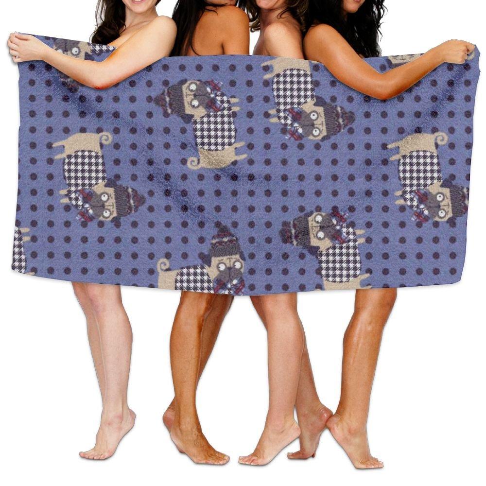 Toalla de baño para perro con estampado navideño, de microfibra para adultos, de 78,74 x 213,36 cm: Amazon.es: Hogar