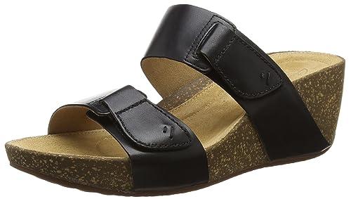 5f454468f99 Clarks Women s Temira East Black Leather Fashion Sandals - 6 UK India (39.5  EU