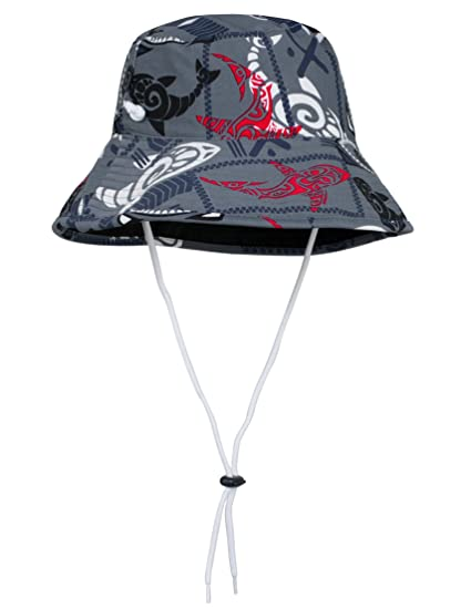 5e38cec4515 Amazon.com  Tuga Boys Reversible Bucket Hats - UPF 50+ Sun ...