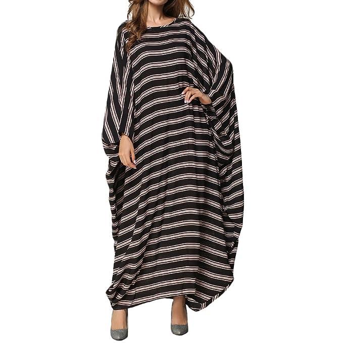 Zhuhaitf Donne Musulmane Oversize Vestito Lungo Caftano Manicotto Speciale  Cotone Vestito Lungo Elegante per Signore Eleganti  Amazon.it  Abbigliamento b4930ddf18f7