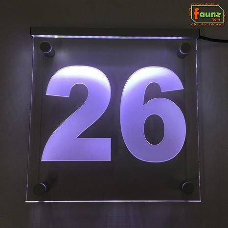 LED Número de Casa Vía Cartel Orientación