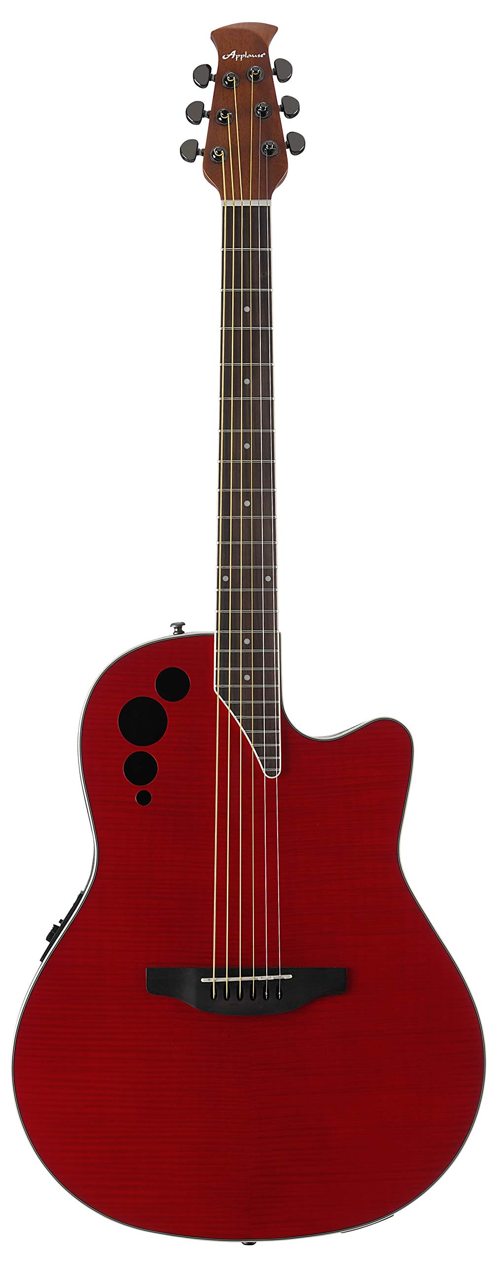 Ovation Applause 6 String Acoustic-Electric Guitar Right, Cherry Flame Mid-Depth AE44IIP-CHF