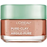 Clay Facial Mask, L'Oreal Paris Skincare Pure Clay Face Mask with Red Algae for...