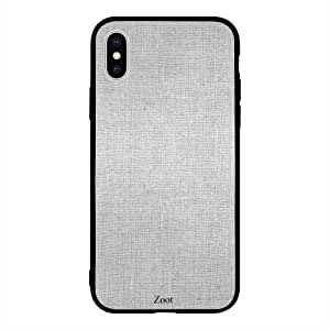 iPhone XS / 10s Case Cover Grey Textile Pattern Zoot High Quality Design Phone Covers