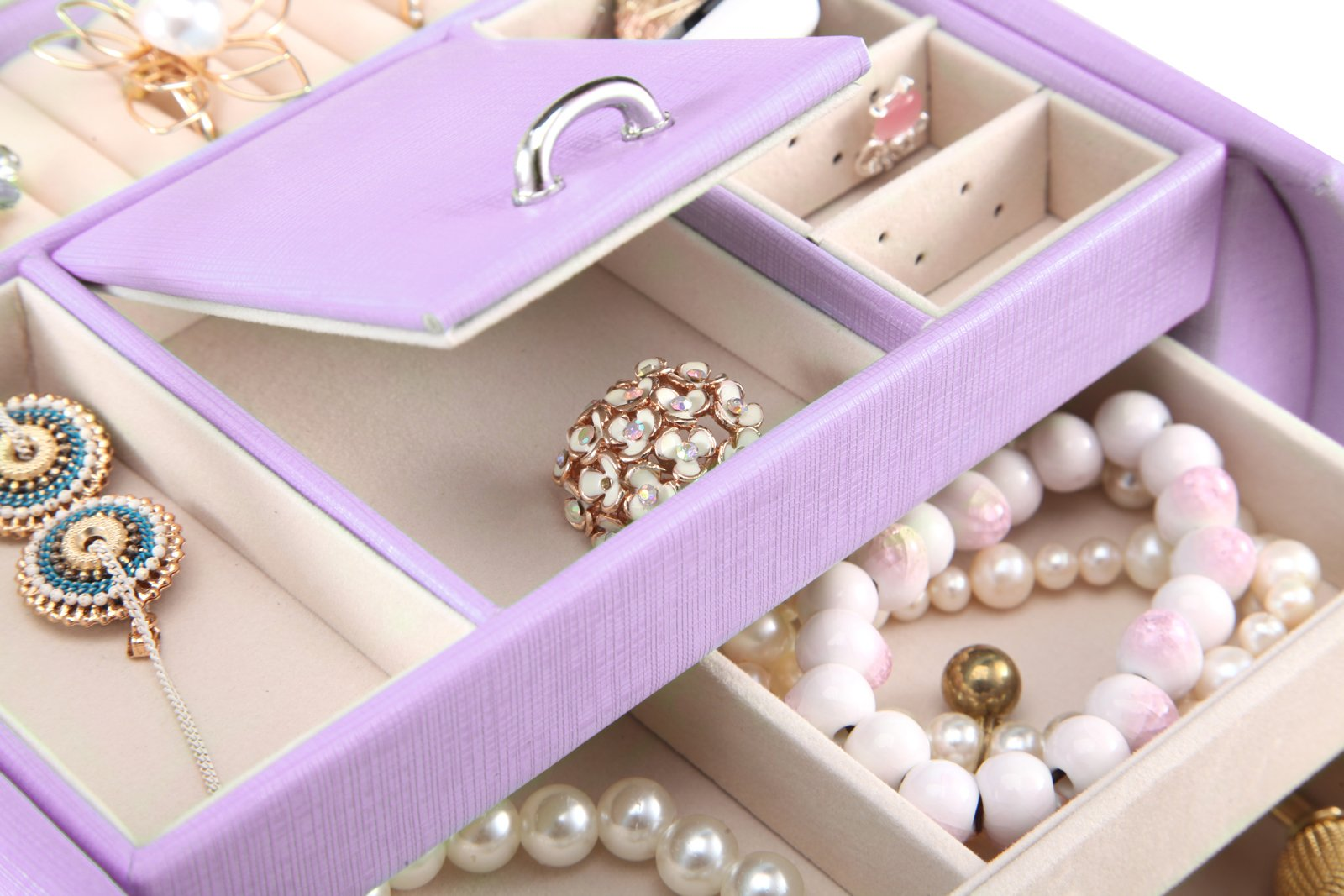 Vlando Princess Style Jewelry Box from Netherlands Design Team, Fabulous Christmas Gift for Girls (Purple) by Vlando (Image #3)