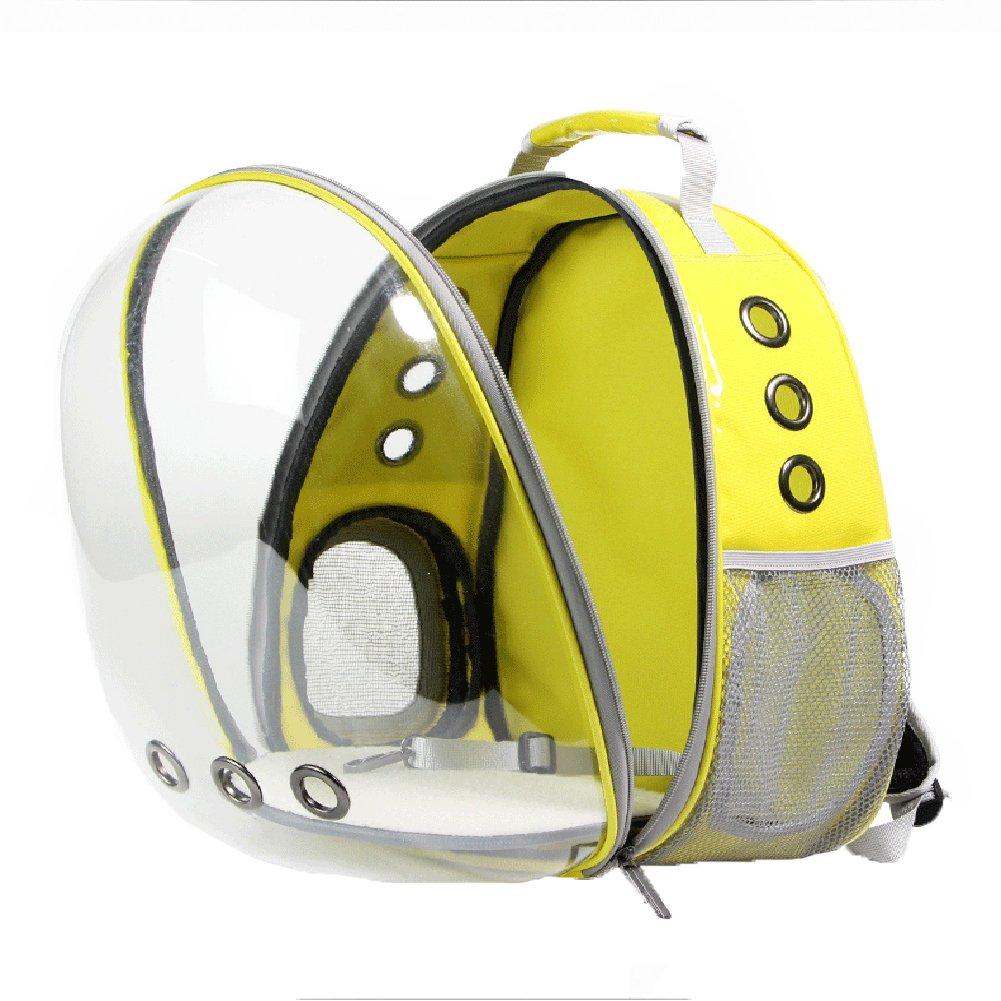 Cutepet Transportín Portador para Mascotas Perros Gatos Pequeños Mochila para Llevar Perros Bolso De Transporte para Animales Al Aire Libre,Yellow: ...