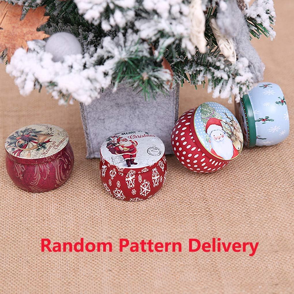 2pcs Rolin Roly Candy Box Mini Babbo Natale Pupazzo di Neve Natalizio Barattolo di Latta Scatola Sigillata Scatole Latta Natalizie Christmas Kids Gift Decor