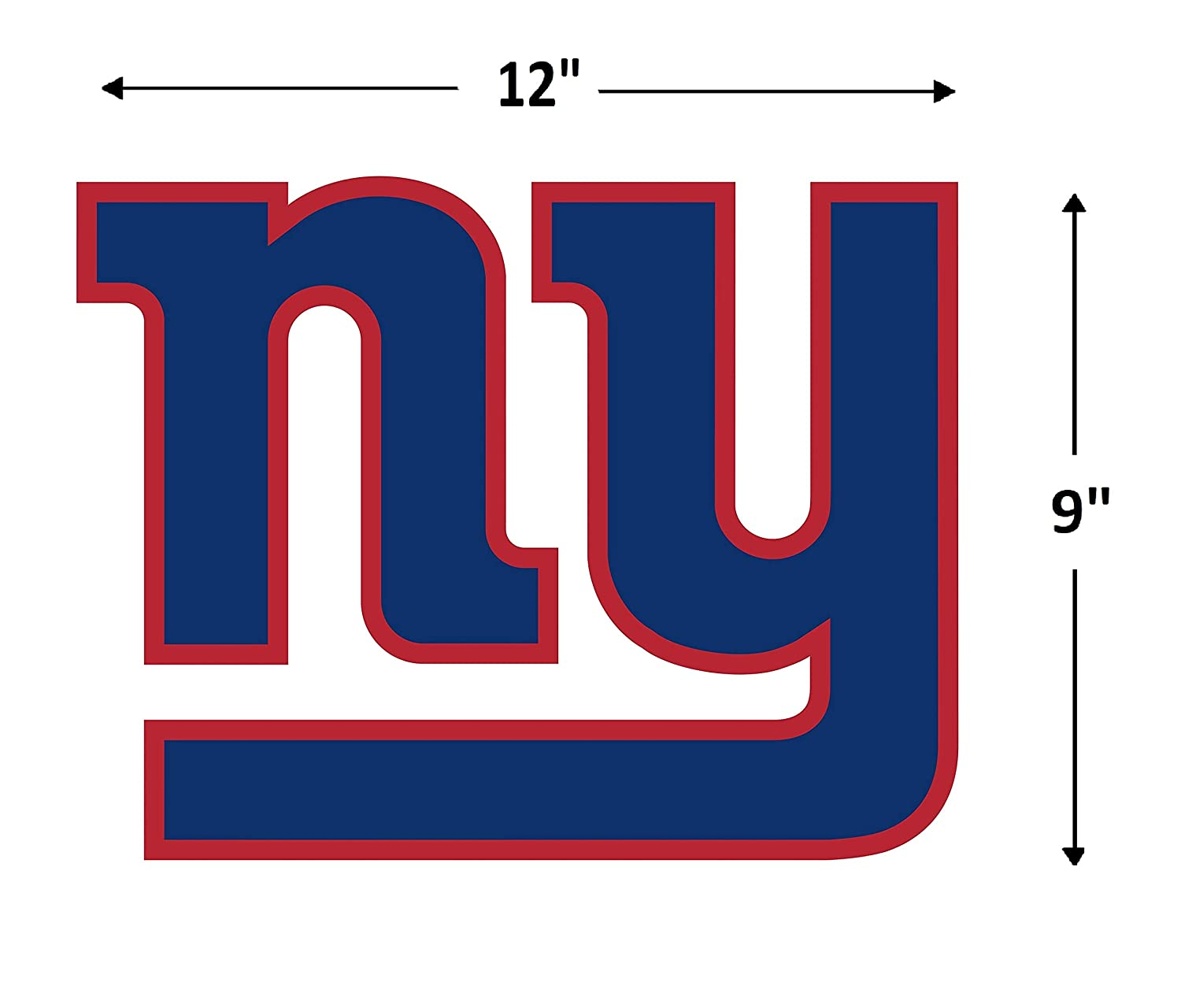 89-03359 FATHEAD NFL New York Giants Logo Teammate- Officially Licensed Removable Wall Decal Multicolor Large