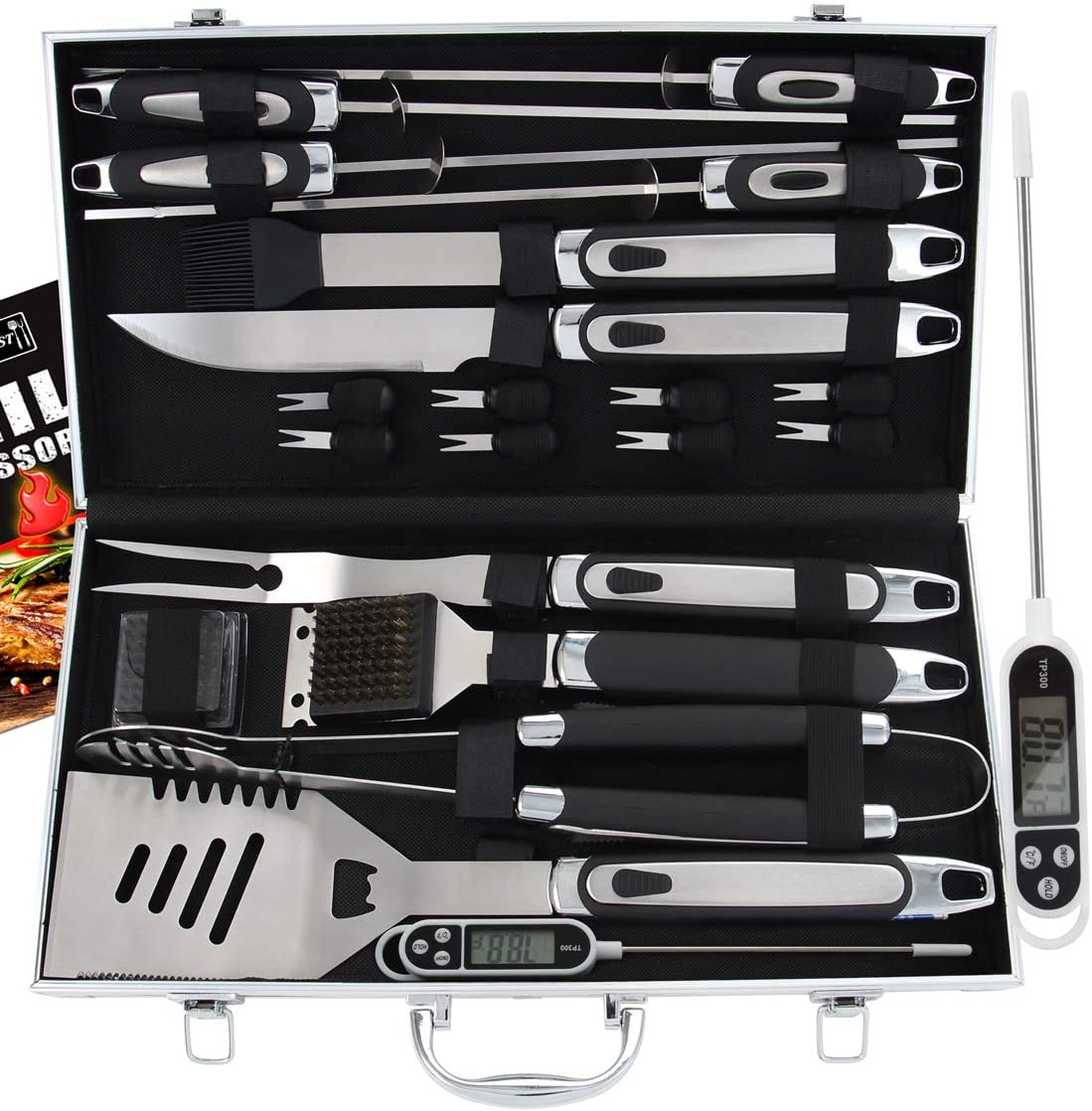 Best Grilling Accessories for the Experts: Romanticist 21pc BBQ Grill Accessories