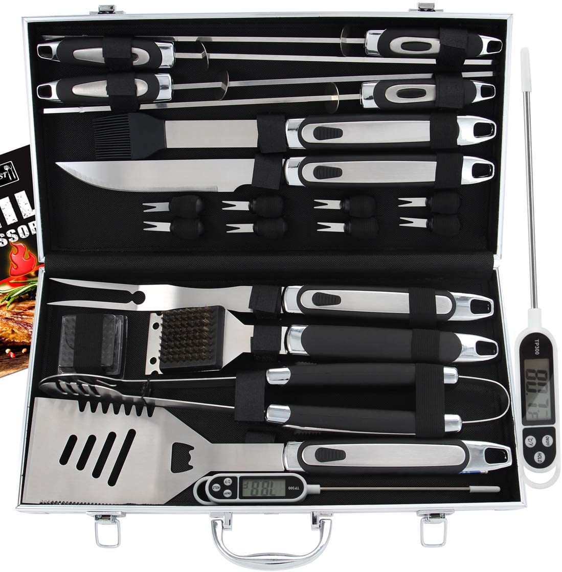Best Grilling Accessoriesfor the Experts: Romanticist 21pc BBQ Grill Accessories