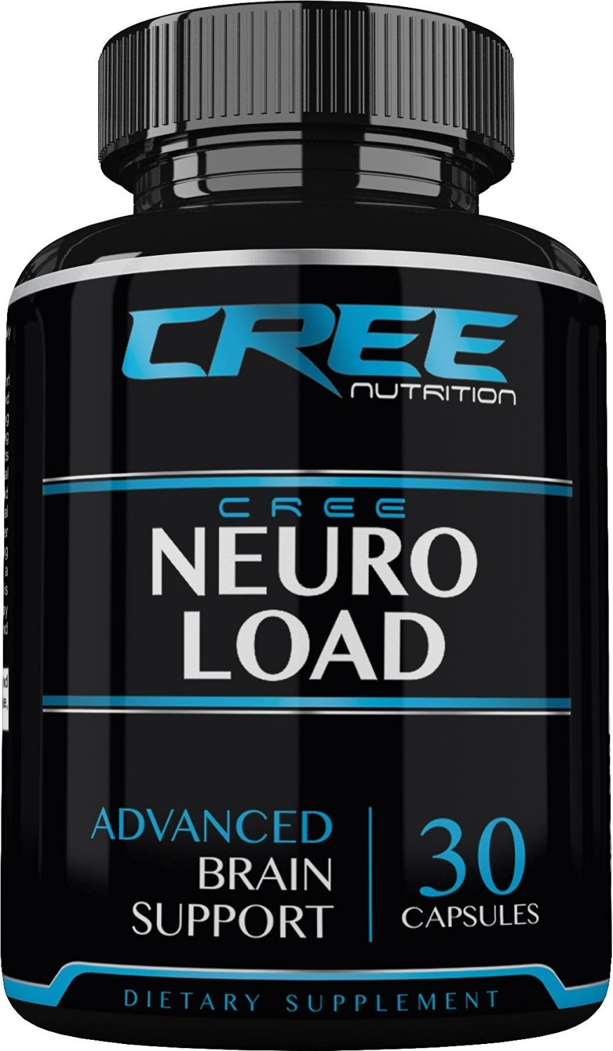 CREE Nutrition Neuro Load, Extra Strength -Energy- Brain Supplement for Focus, Clarity & Memory- Mental Performance Nootropic - Brain Booster Formulated with Super Ginkgo Biloba, St Johns Wort, & More