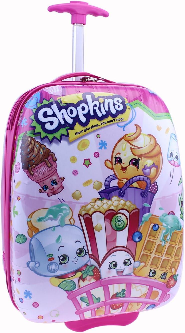Moose Shopkins Hard Shell Luggage, Pink