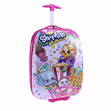 Amazon.com | Moose Shopkins Hard Shell Luggage, Pink | Kids' Luggage
