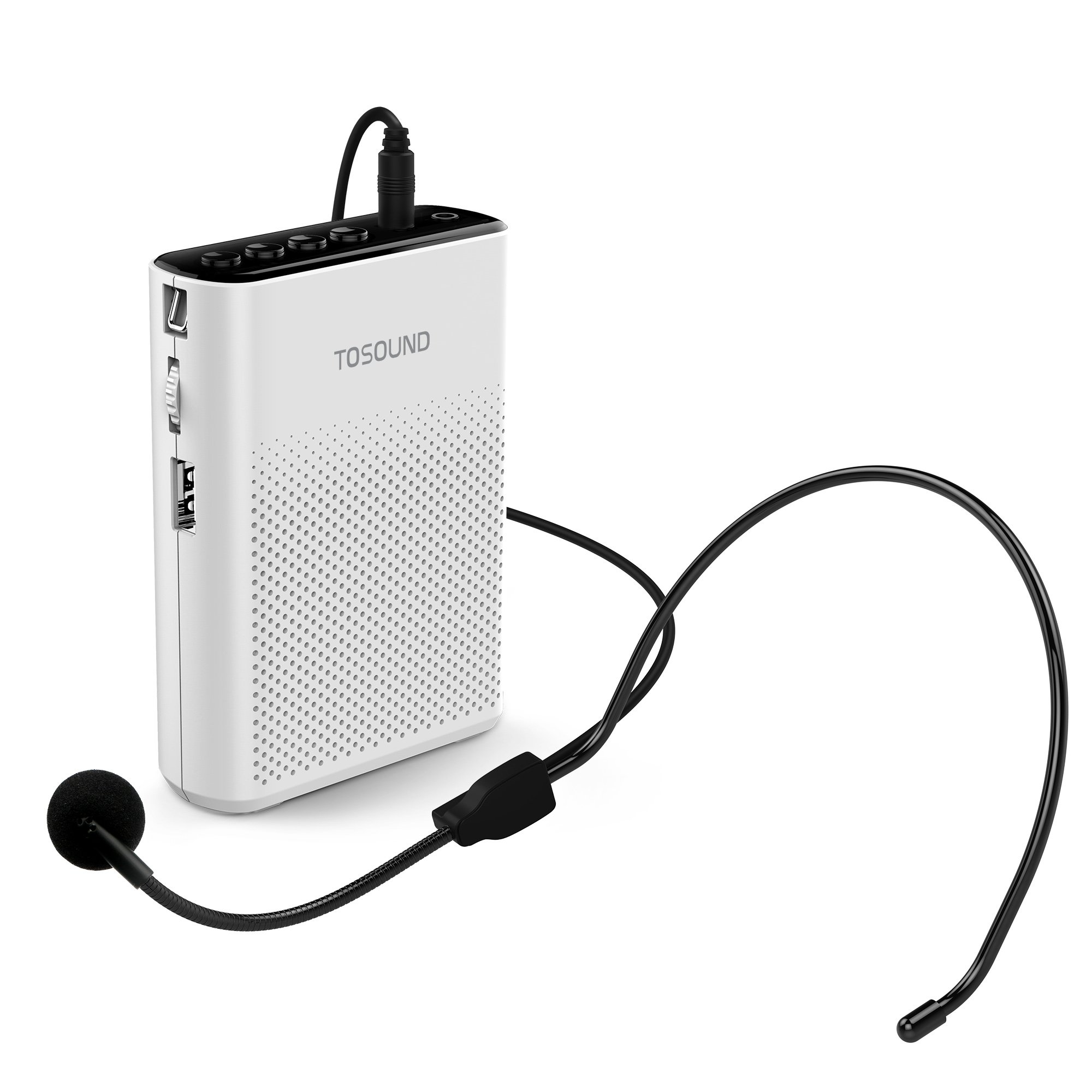 TOSOUND TS200 Mini Rechargeable Ultralight Portable Voice Amplifier, Support Waistband & Belt Clip Loudspeaker for Tour Guides, Teachers, Coaches, Presentations, Market promotion, Etc.