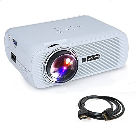 Crenova,Mini proyector XPE460 Full Color Home Video Proyector, 130 ...