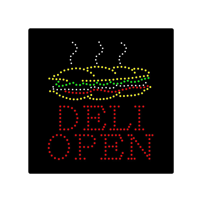 Señal de luz LED Deli con diseño de sándwiches abiertos ...