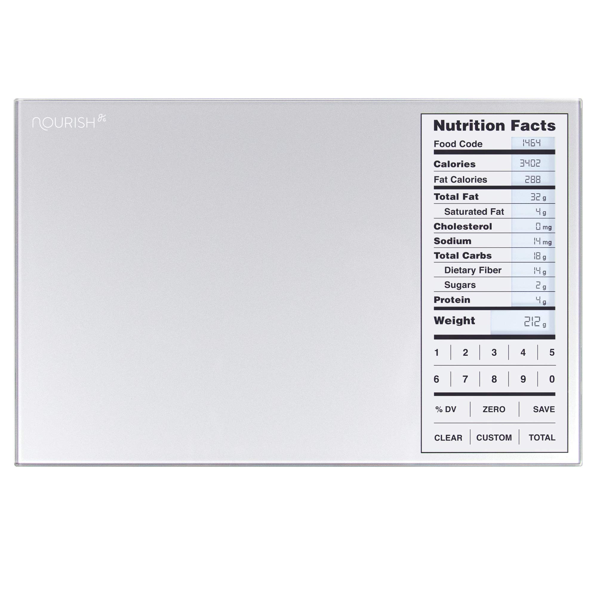 Greater Goods Nourish Digital Kitchen Scale, Food Scale with (New Backlit) Portions Nutritional Facts Display by Greater Goods