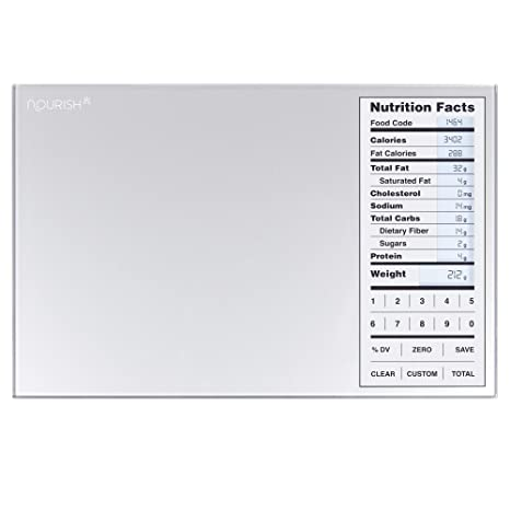 Amazon.com: Greater Goods Nourish Digital Kitchen Food Scale and Portions Nutritional Facts Display: Kitchen & Dining