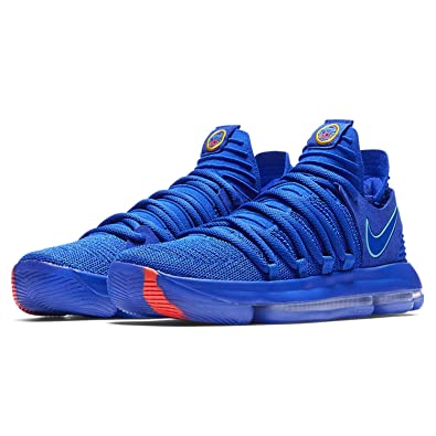 buy popular c9027 cef8e Amazon.com   Nike Men s Zoom KD 10 Basketball Shoe (10.5 D(M) US, Racer Blue Light  Menta Black)   Basketball